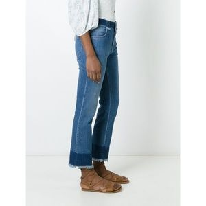 See by Chloe High-Waist Jeans with Raw Hem